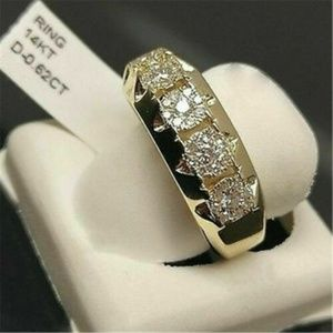 14K Yellow Gold Filled White Sapphire Ring